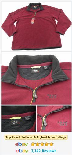 Izod PerformX PFX 1/2 Zip Fleece Pullover Mens Size XLT Tall Burgundy New w/ Tag http://www.ebay.com/itm/Izod-PerformX-PFX-1-2-Zip-Fleece-Pullover-Mens-Size-XLT-Tall-Burgundy-New-w-Tag-/272235238511?ssPageName=STRK:MESE:IT&autorefresh=true