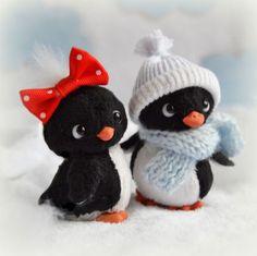 Sweet teddy toys Penguins / Мишки Тедди ручной работы. Заказать Пунь и Лю-лю (6 см). Голуб Таня. Ярмарка Мастеров. Пингвин, миник