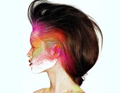 Mirhé Grimmelmann by Eric Maillet for Vogue China August 2010 // 23 Understated Ways to Wear Neon Makeup
