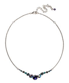 This Purple Swarovski® Crystal & Silvertone Round-Cut Necklace by Sorrelli is perfect! #zulilyfinds