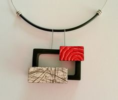 3D polymer clay pendant