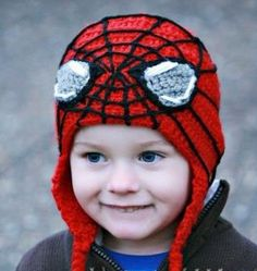 Spiderman (Inspired) Hat -Crochet Hat - for Toddlers to Adults