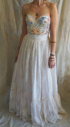Meadow Gown... wedding dress formal prom boho by jadadreaming