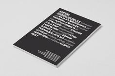 The Danish National School of Performing Arts by Camilla Bengtsen, via Behance