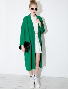 Green long blazer