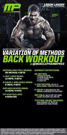 Variation of Methods Back Workout