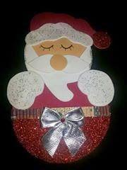 Nosso Espaço Educando: Papai Noel porta doces em EVA com molde.