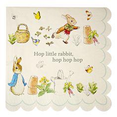 Peter Rabbit Large Scollop Edge Paper Napkins X 20 Party / ChristeningPeter Rabbit