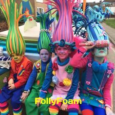 FollyFoam Kreationen Related posts: No related posts. Troll Halloween Costume, Clever Halloween Costumes, Halloween Crafts, Trolls Birthday Party, Troll Party, Crazy Costumes, Diy Costumes, Foam Wigs, Halloween Karneval