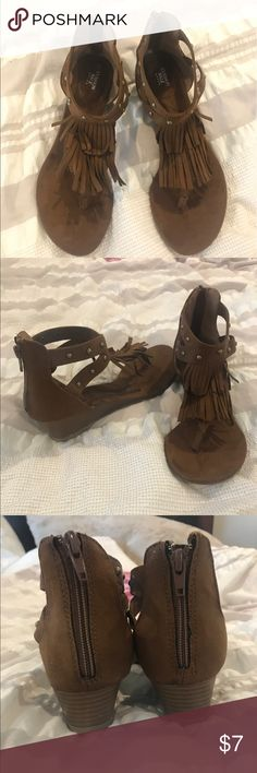Fringe Sandals Brand new, never worn. Avon Shoes Sandals