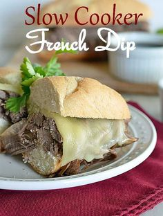 Slow Cooker French Dip Recipe | sandwich recipes | homemade French dip | how to make French dip | beef recipes | French dip recipes || Kitchen Meets Girl