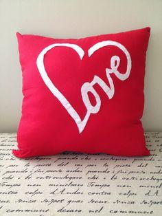 Decorative Pillow Love Pillow Throw Pillow by UniquelyAmandaCrafts, $35.00