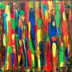 NEW PAINTING !  Tribal Colors I  60x60 cm  My website:   #art #painting #artbylonfeldt