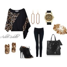 Oversize Leopard Top, created by ashlee470 on Polyvore