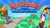Papa Louie 2: When Burgers Attack! - This is the long awaited sequel to the hit game Papa Louie: When Pizzas Attack! Marty and Rita's routine work day at the Burgeria turns into a nightmare when a strange portal appears in Papa's Burgeria. Radley Madish, Sarge, and a legion of Burgerzillas terrorize the Burgeria and kidnap Papa Louie and all the loyal customers. It's up to Marty and Rita to rescue the customers and find their favorite boss, Papa Louie.