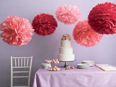 classy wedding shower ideas paper flowers