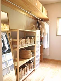 Pin on interior Pin on interior Space Hack, Open Wardrobe, Japanese House, Walk In Closet, Diy Woodworking, Dressing Room, Home Organization, Kids Room, Decoration