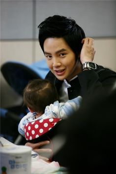 Jang Keun Suk and Mason Moon, Baby and Me.