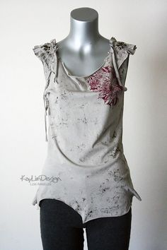 Reconstructed tank - up-cycled t shirt