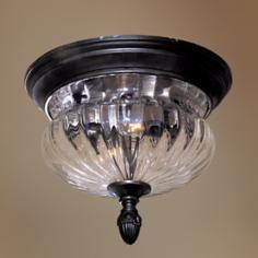 """Newport 11 5/8"""" Wide Indoor - Outdoor Ceiling Light Fixture"""