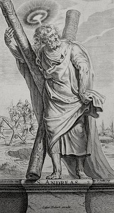 The Apostles in the Phillip Medhurst Collection 032 Andrew's martyrdom Acts cap 1 v 13 Therdore on Flickr. A print from the Phillip Medhurst Collection (published by Revd. Philip De Vere at St.George's Court, Kidderminster, England)