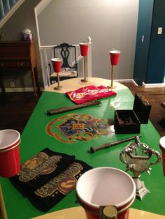 Beer pong quidditch love u kaitlynn for Table quidditch