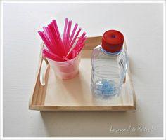 activité Montessori, motricité fine (12/18 mois), DIY
