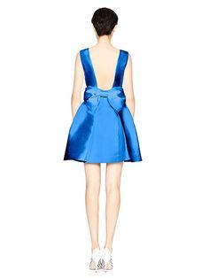 open back silk mini dress   Kate Spade New York