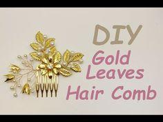 Tutorial Bridal Hair Comb Hair Vine Pin Headpiece Boho Chic DIY Gold - YouTube