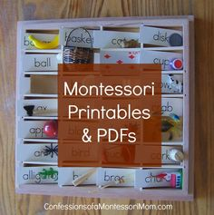 Montessori Printables PDFs -- LOTS of resources! {Confessions of a Montessori… Maria Montessori, Montessori Homeschool, Montessori Classroom, Montessori Toddler, Montessori Activities, Toddler Learning, Educational Activities, Homeschooling, Montessori Bedroom