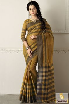 Camel color cotton saree at online shopping and discount price range. This exclusive beautiful formal saree shop online with free home delivery in India all city. #saree, #casualsaree more: http://www.pavitraa.in/store/casual-saree/