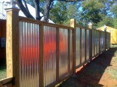 corrugated metal fence ideas | Industrial / metal style fence ideas