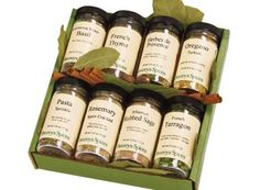 Herb 8 Jar  Gift Pack from Penzys. They sell a wide variety of gift packs.