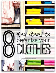 8 items that could help you to create a more organised wardrobe and chest of drawers - in fact - any place that you store your clothes