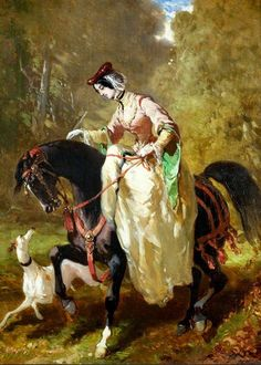 Lady riding side saddle by Pierre-Alfred Dedreux Art History, Historical Painting, Female Art, Renaissance Art, Painting People, Greyhound Art, Art, Old Master, Horse Painting