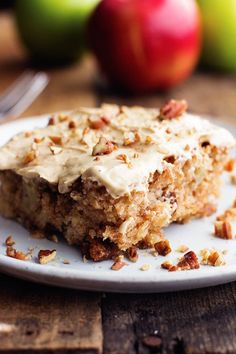 Apple Pecan Spice Cake with Brown Sugar Cream Cheese Frosting 4