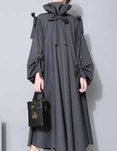 49735e5f58d MOO AM4 Oversized Maxi Shirt Dress in Grey Maxi Shirt Dress