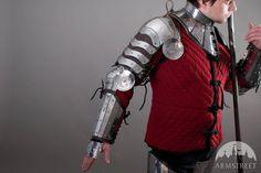 Armor Pauldrons Spaulders Medieval SCA Etched