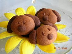 Ai Lien ^-^ Cook for Happiness: Chocolate-Milo Doggie Cookies