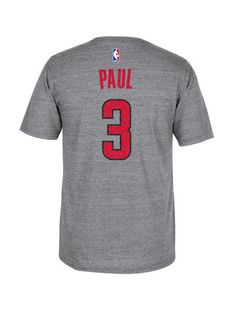 40611c220 Los Angeles Clippers Chris Paul Distressed Player Short Sleeve T-Shirt  Chris Paul