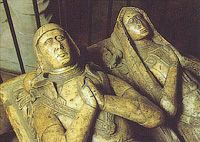 Sir Richard Cholmondeley was distinguished military officer who fought at Flodden Field in 1513. Soon after he was appointed Lieutenant of the Tower of London, he created for himself and his wife a very fine tomb.