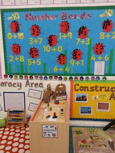 Number Bonds to 10 Display- Ladybirds made by the children.