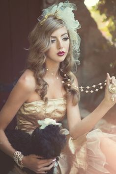 Hand knotted Pearl necklace with victorian pendant  Photographer: Emily Raley Soto  Model: Makaela Maran  Stylist: Fiori Couture  Makeup: Markuz Royale  Hair: Kalia White  Jewelry: Lisa Marinucci Jewelry Collection