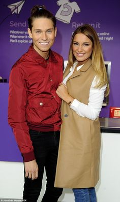 Joey Essex reveals risky new 'do as he reunites with Sam Faiers for awkward reunion | Daily Mail Online