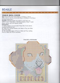 DOGS WE ADORE *BEAGLE TISSUE BOX COVER 2/3* by JORJA HERNANDEZ AND LINDA GILLUM - PAGE 43