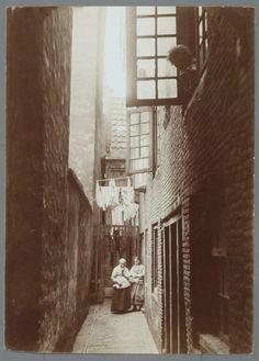 1913ca. Ankermansgang in de Amsterdamse jodenbuurt
