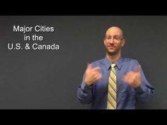 Learn how to sign major cities in the U. Asl Sign Language, American Sign Language, First Language, Language Study, Asl Signs, Deaf Sign, Asl Videos, Asl Interpreter, Deaf Culture