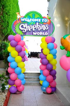 Shopkins Welcome Banner Design by @Fantasyparty #shopkins #fantasyparty…