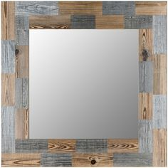 Woodart Cortina Wood Mirror Lago Scin ($1,725) ❤ liked on Polyvore featuring home, home decor, mirrors, wood, wooden mirror, wooden home accessories, red home decor, grey wood mirror and wood home decor