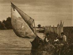 Danube Delta - Old photos -Kurt Hielscher Old Photos, Vintage Photos, Delta Art, Danube Delta, City People, Safari, Medieval, Photography, Painting